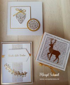 Weihnachtsset in Weiß und Gold