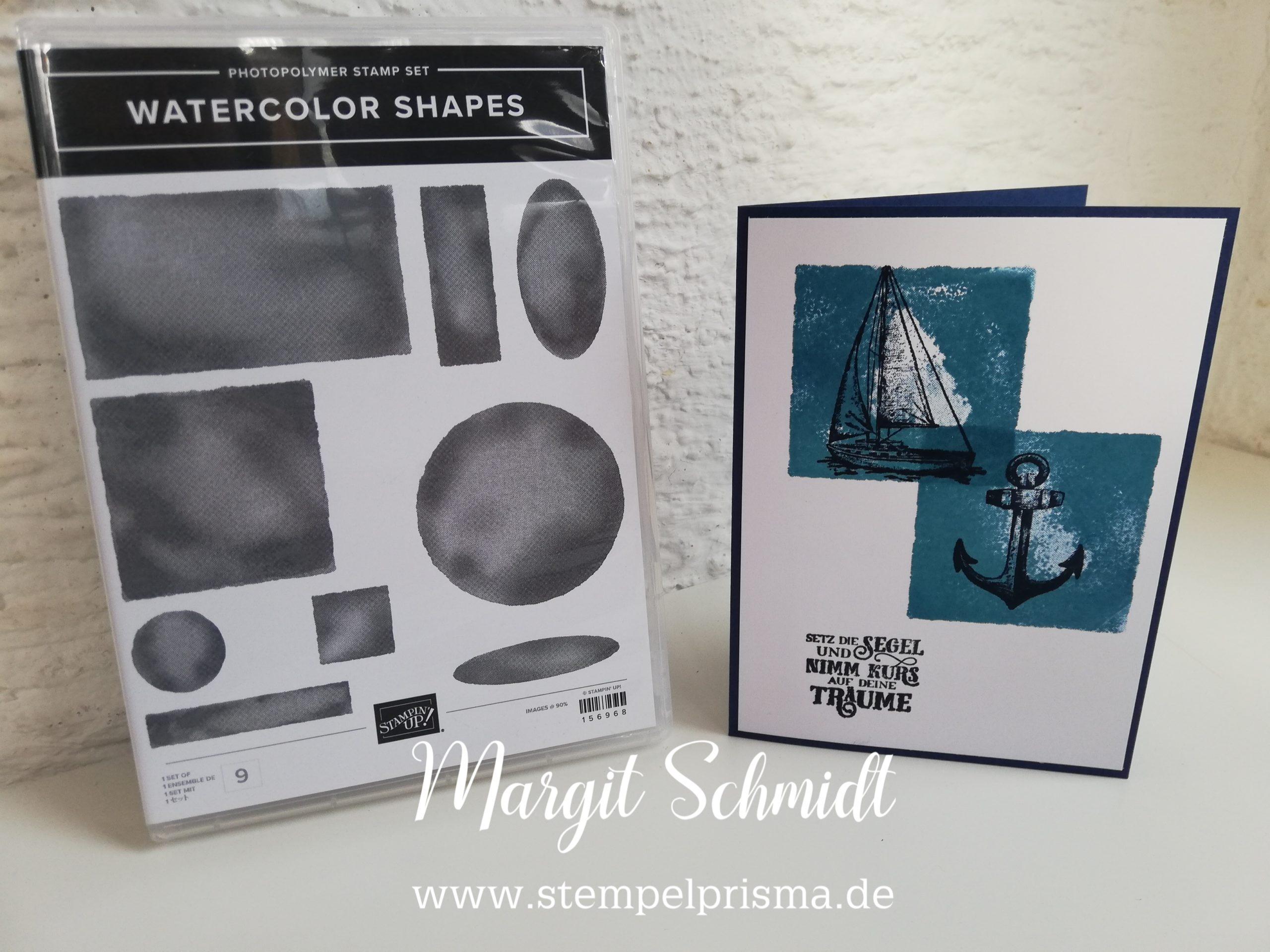 Read more about the article Watercolor Shapes – einfache und schnelle Karten