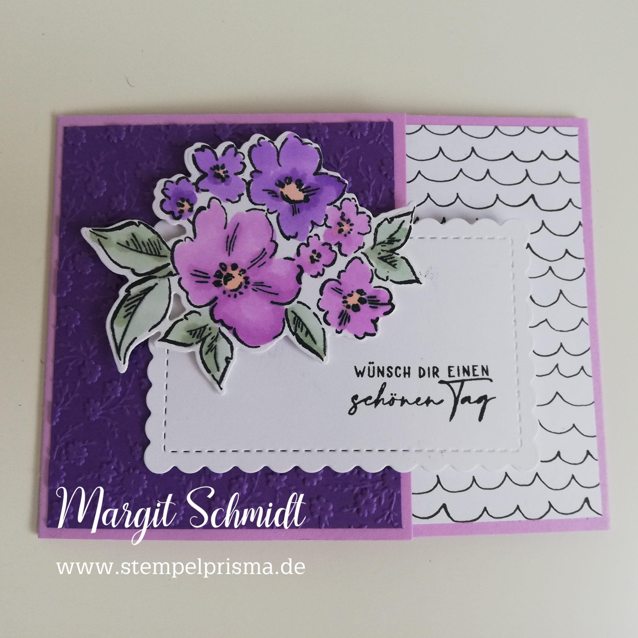 Read more about the article Fun Fold Karte Von Hand gemalt